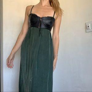 Diesel green maxi dress